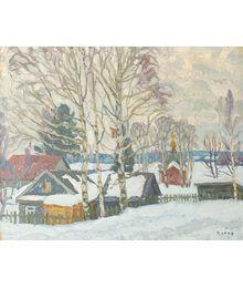 Winter Day in the Village. Viktor Kotov