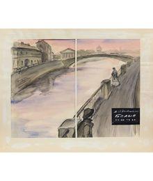 Иллюстрация к книге Ф. Достоевского «Белые ночи». Наталья Орлова