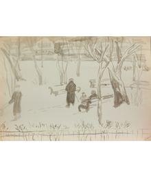 Зимний пейзаж. Наталья Орлова