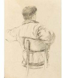Drawing of a Man from Behind. Evgeny Rastorguev