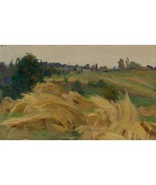 Landscape with Haycocks. Evsey Reshin