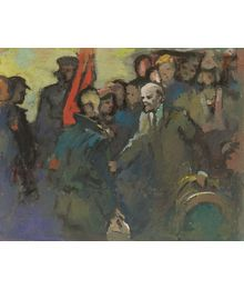 Lenin with People. Evsey Reshin