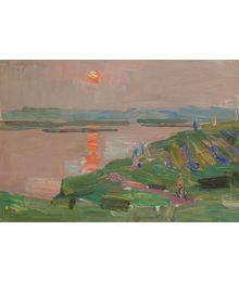 Sunset on the River. Vassily Minyaev