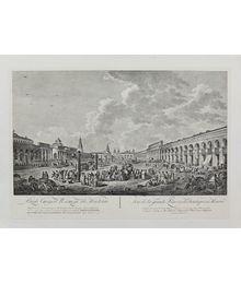 Вид Старой площади в Москве. С гравюры 1795 года. Неизвестный автор