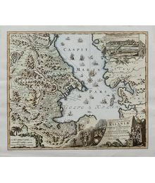 Map of the Caspian Sea of 1728. Unknown Author