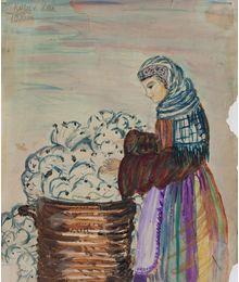 Cotton-picking. Inna Mednikova