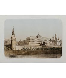 Moscow Kremlin. From old engraving. Unknown Author