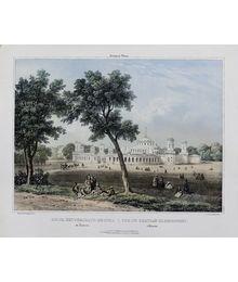 Вид Петровского дворца. Со старой гравюры. В.Адам