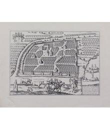 """План Москвы из """"Записок о Московии"""", издание 1556 года"""