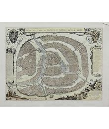 Карта Москвы. Moscovia Urbs Metropolis Totius Russiae Albae. Неизвестный автор