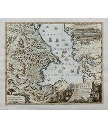 Карта Каспийского моря 1728 года. Неизвестный автор