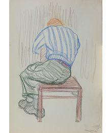 Sitting Man's Back. Natalia Orlova