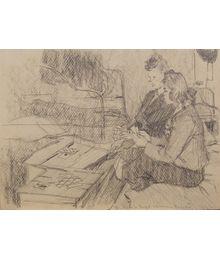 Tamara and Vipya Play Cards. Evgeny Rastorguev