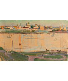 Evgeny Bitkin. Novgorod the Great. Sketch