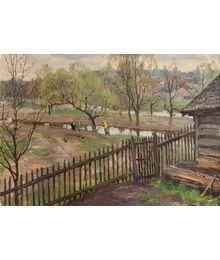 Евгений Биткин. Весна в деревне