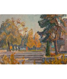 Evgeny Bitkin. Ferris wheel. Pioneer Camp in Senzhary
