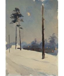 Зимний пейзаж. Евгений Биткин