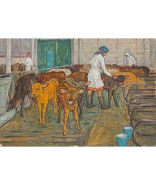 At the Dairy Farm. Evgeny Bitkin