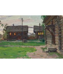 Вечер в деревне. Евгений Биткин