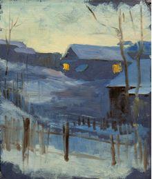 Зимний закат. Евгений Биткин