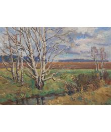 Birches near a Spring. Inna Mednikova