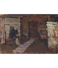 Dmitry Tegin. The Old Man in a the Hut
