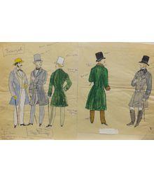 "Costume Design for the Play by Ivan Turgenev ""Torrents of spring"". Tamara Guseva"