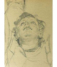 Голова женщины. Эскиз к росписи потолка. Виктор Коновалов