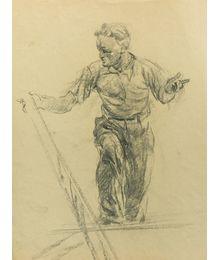 Мужская фигура. Эскиз к росписи потолка. Виктор Коновалов