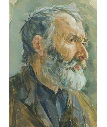 Etude of Old Man. Viktor Konovalov