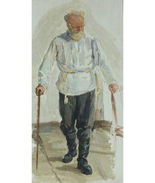 Male Figure. Sketch to the Painting. Viktor Konovalov