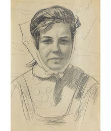 Woman in Scarf. Leonid Usaitis
