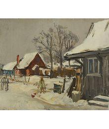 Зима в деревне. Дмитрий Хамин