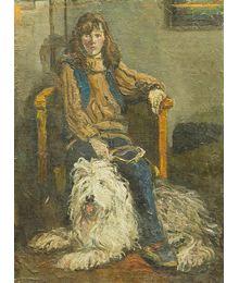 Девочка с собакой. Дмитрий Хамин