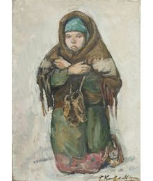 "Study for the painting ""Bless and Save"". Tatiana Konovalova-Kovrigina"