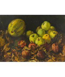Still Life — Apples and Pomegranates. Natalia Konovalova
