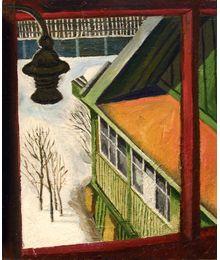 Вид с дачного балкона. Олег Иванов