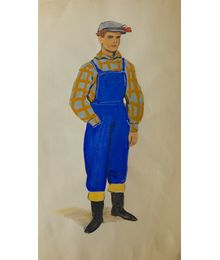 A Man in coveralls. Costume Design. Tamara Guseva