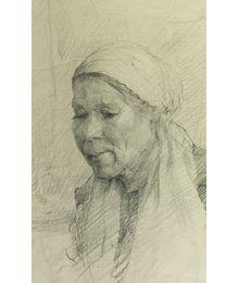 Woman in Shawl. Viktor Konovalov
