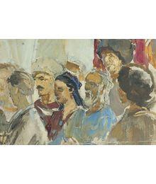 Sketch to the Painting. Viktor Konovalov
