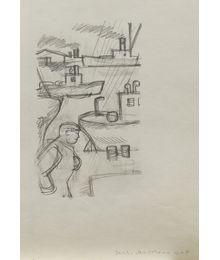 """Sketch Illustration for Tale """"Vasya Matochkin-Shar"""". Evgeny Rastorguev"""