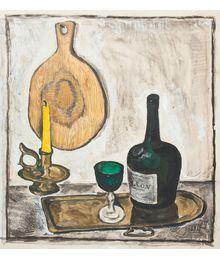 Still Life with Green Glass.Stekolschikov Vyacheslav