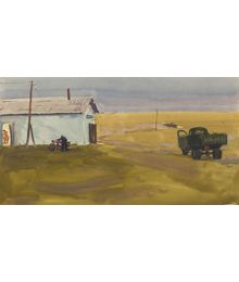 Evening in the Field. Vyacheslav Stekolschikov
