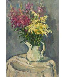 Flowers in White Jug. Tatiana Konovalova-Kovrigina