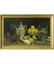 Still Life with Dishes and Apples. Natalia Konovalova
