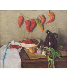 Still Life with Peppers. Nadezhda Vorobieva
