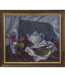 Still life with a Teapot. Nadezhda Vorobieva