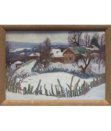 The Village in Winter. Nadezhda Vorobieva