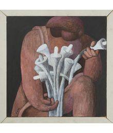 A Girl with Flowers. Robert Kondakhsazov