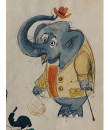 Г. и В. Караваевы. «Слон» Эскиз иллюстрации